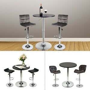 Image Is Loading 3 Piece Pub Table Set Bar Stool Counter
