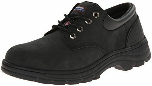 77047 Skechers Men's Steel Toe Workshire Corpus Oxford, BBK Black sz 8.5