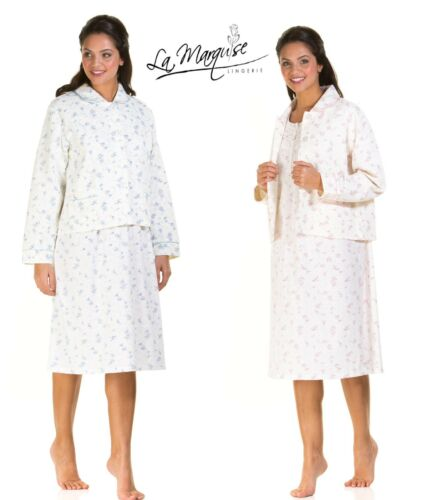 LADIES ROSES  COTTON RICH LIGHTWEIGHT QUILTED  BUTTON THROUGH BED JACKET  S-XXL