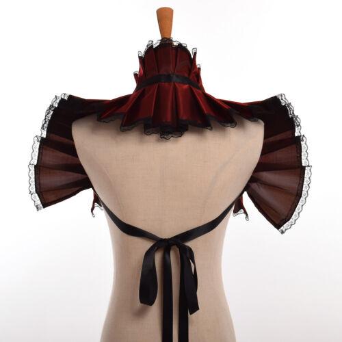 Vintage Renaissance Lace Rebato Shawl Collar Retro Bolero Jabot Collar Shrugs
