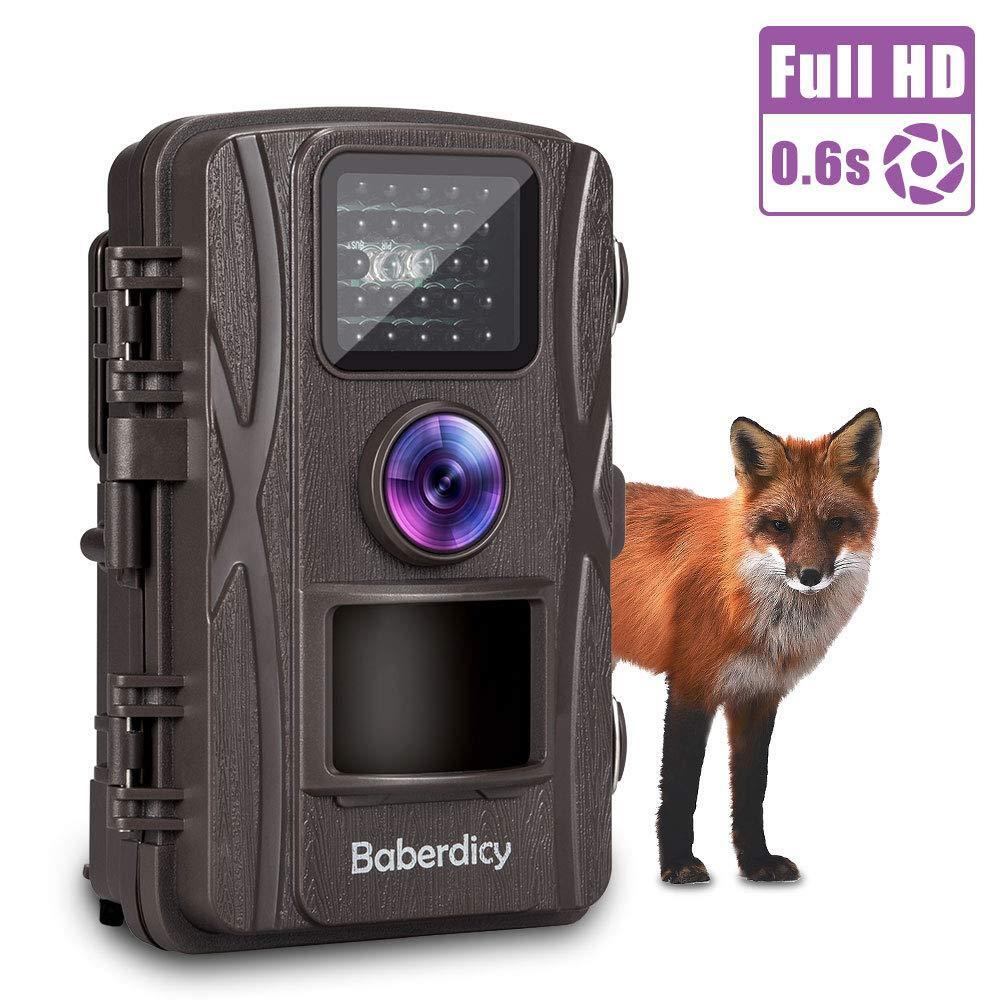 Baberdicy Trail Camera, 1080P 12MP HD Wildlife Camera Motion Activated Night Ver