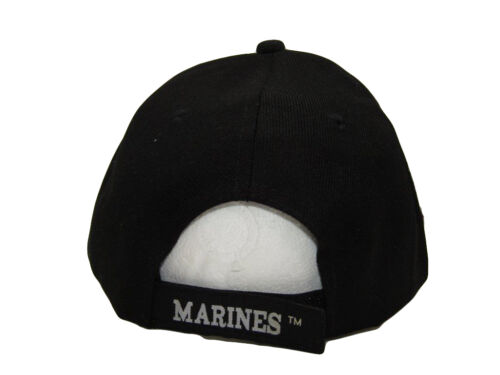 USMC Marines Marine Corps USA American Flag Bald Eagle EGA Black Cap Hat