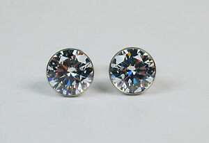 2-0-ct-CZ-Studs-amp-Stainless-Steel-Earrings-by-b-tiff-New-York-Free-US-Shipping