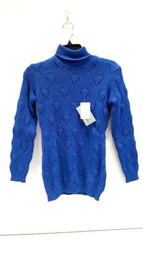 Blue collo In Mens France alto lana Montant 100 Made a New maglione 44 TRWUxdY