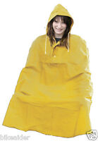 Cycle Camping Outdoor Waterproof Quality One Size 100% PVC Rain Cape Poncho