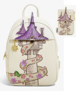 Disney Loungefly Rapunzel Tangled Tower Pascal Backpack Bag Card Holder New Ebay