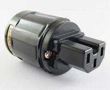 1 x Pure Copper C-029 US Power Plug Female IEC Plating Connector for Audio Black