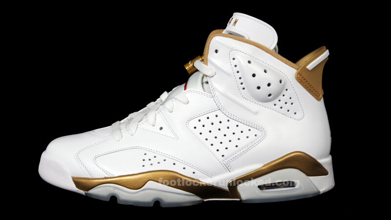 Nike Air Jordan 6 VI Retro White Gold GMP Golden Moments Size 8. 535357-935