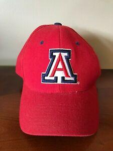 Zephyr Arizona University Fitted Hat Flat Brim Cap 7 1//2, Black