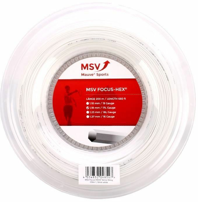 MSV Focus HEX White 200m 1,23 mm Tennissaiten Tennis Strings