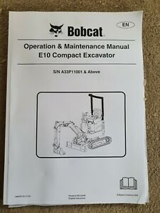 BOBCAT E16 MINI EXCAVATOR OPERATORS MANUAL PACK