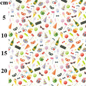 Party-Celebration-Champagne-Balloons-Hats-100-Cotton-Craft-Fabric-Material-Mtr