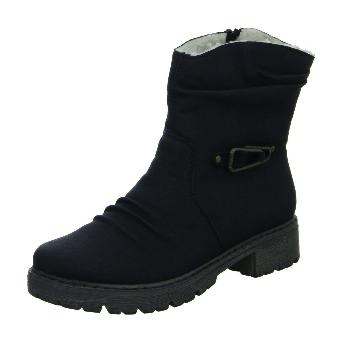 NEU Rieker Damen Stiefel Schlupf/Reißverschlussstiefelette Warmfutter Y9061-00