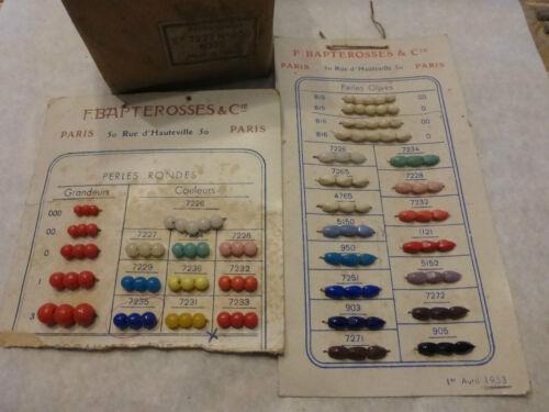 perle en boite émaux de BRIARE BAPTEROSSES ROUGE  4mm 8000 perles