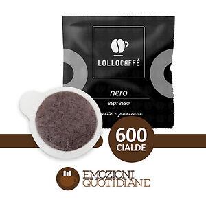 600-Cialde-Caffe-Lollo-Nero-Espresso-Gusto-e-Passione-in-carta-ESE-44mm