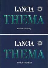 LANCIA  THEMA Y9 Betriebsanleitung 1985 Bedienungsanleitung Handbuch Bordbuch BA