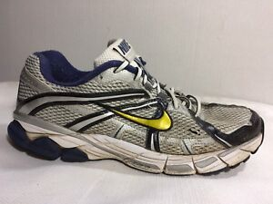 4e3a686c30f65 Nike Equalon 3 + Running Shoes 333486 171 Silver Navy White Mens ...