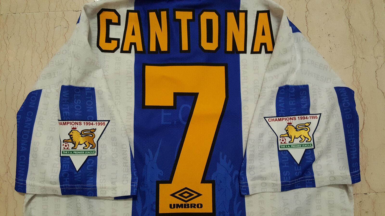 Maglia Cantona Manchester United Umbro champions 1994-95 shirt jersey vintage