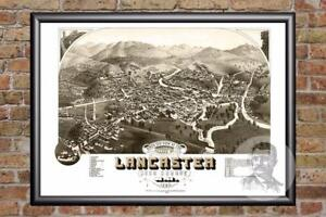 Vintage-Lancaster-NH-Map-1883-Historic-New-Hampshire-Art-Old-Industrial