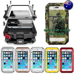Heavy-Duty-Shockproof-Bumper-Metal-Cover-Case-iPhone-Samsung-5-6-7-8-X-Plus