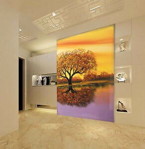 3D Beaux Arbres 43 Photo Papier Peint en Autocollant Murale Plafond Chambre Art