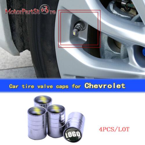 Silver Chrome Auto Car Wheel Tire Air Valve Caps Stem Cover