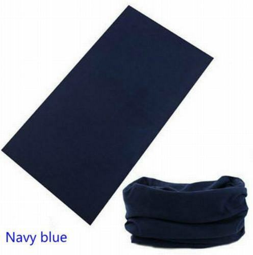 Navy Blue Seamless Neck Warmer Gaiter Tube Mask Fishing Sports Bandanna Biker