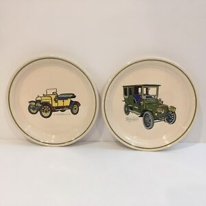 Brendan-Antique-Car-plates-Lot-Of-2-Erin-Stone-Made-In-Arklow-Ireland