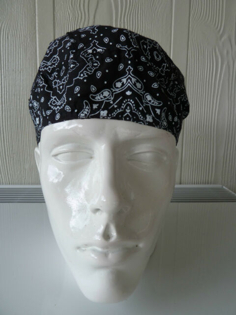 100% cotton Biker Durag/Helmet liner. One size fits all. Bandana-Head Wrap NWT