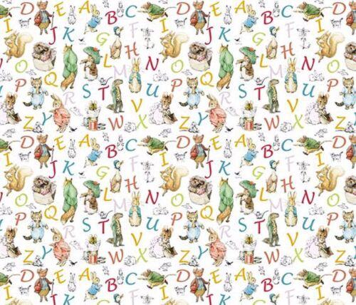 Dollhouse Miniature Beatrix Potter Peter Rabbit ABC Wallpaper 1:12 Nursery