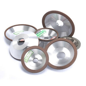 3 Inch 150 Grit Cup Shape Resin Bonded Diamond Grinding Wheel For Carbide Metal 75x20x5x3mm