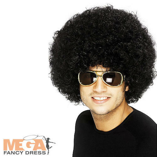 1970s Black Afro Wig Adults Fancy Dress 70s Funky Mens Ladies Costume Accessory