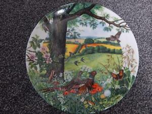 Wedgwood-Collector-Plate-Colin-Newman-s-Country-Panorama-MEADOW-WHEATFIELDs-1987