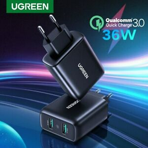 Ugreen-36W-Fast-Quick-Charge-QC-3-0-Dual-USB-Wall-Charger-Adapter-Fr-Samsung-S10