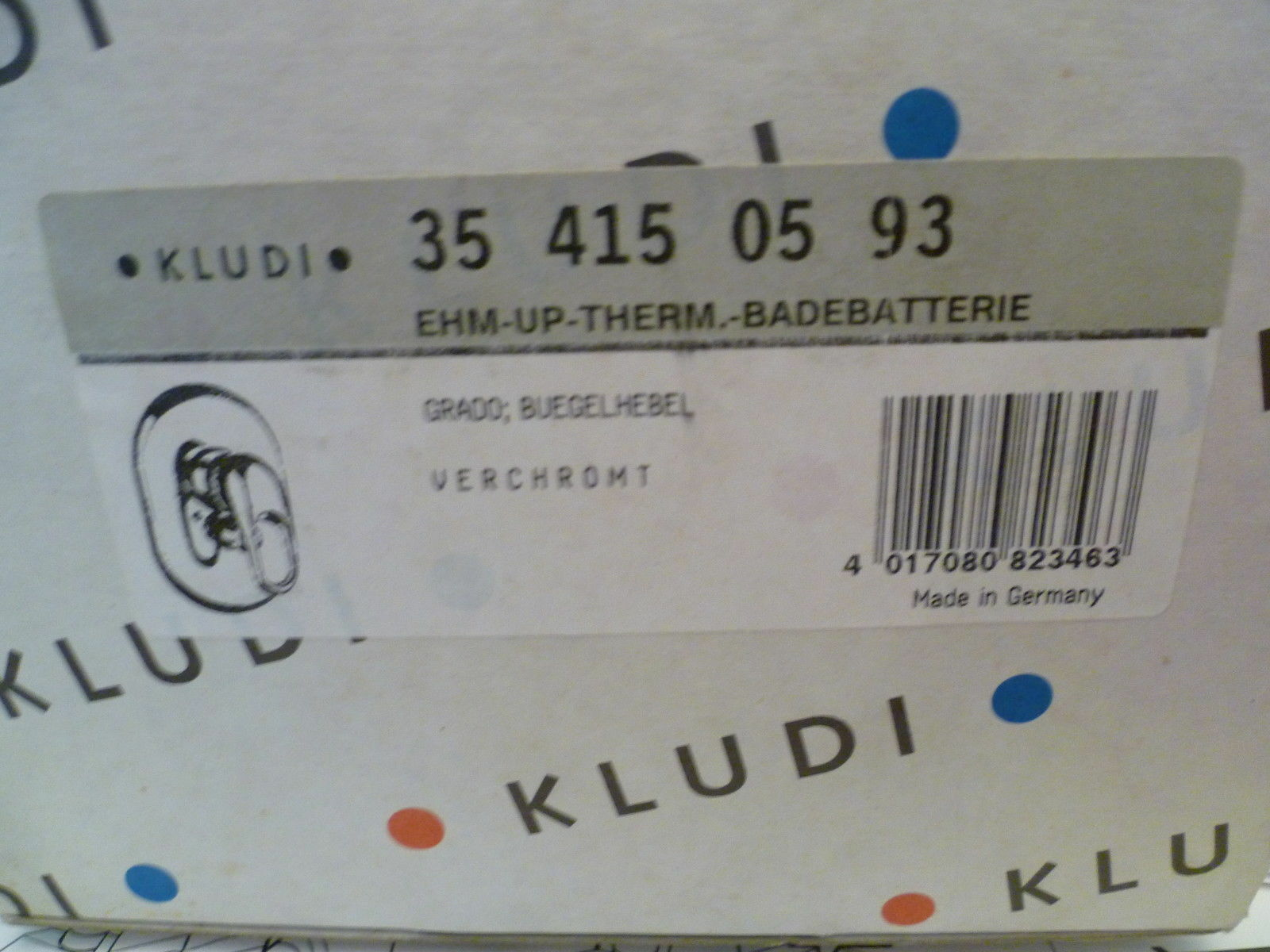 KLUDI GRADO THERMOSTAT UP-WANNENARMATUR BAUSATZ 2 Nr. 354150593 NEU