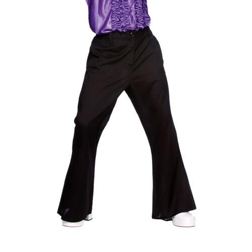 60/'s 70s Black Retro Disco Flare Trousers Men/'s Fancy Dress  S XL