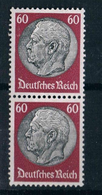 526 / Hindenburg 60 Pf.  postfrisch** Wz 4 , tadelloses senkrechtes Paar