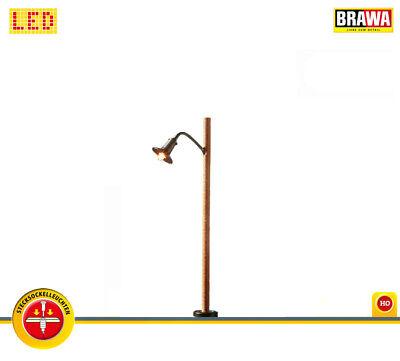 NEU /& OVP BRAWA 84061 H0 LED-Holzmastleuchte mit Stecksockel +