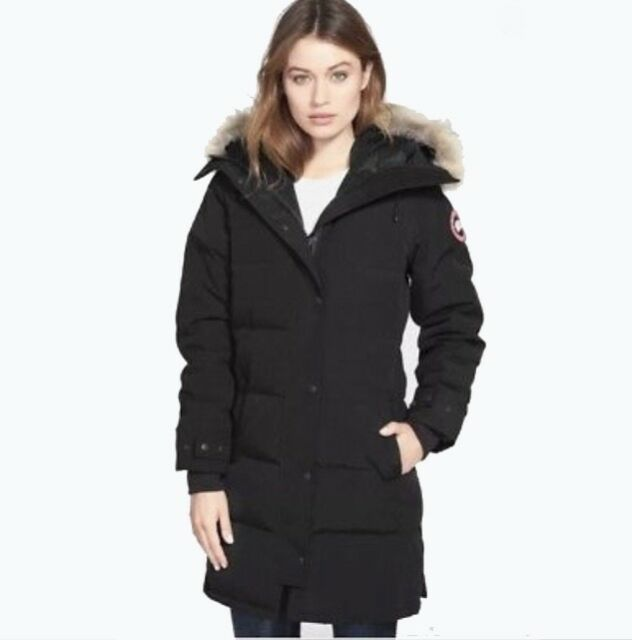 New Canada Goose Shelburne Parka Coyote Fur Black Womens Large