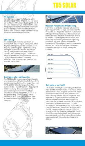 12V DC Circulator Pump Variable Speed Solar Hot Water 12V Topsflo TD5 25PV 25W