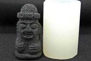 Jeju statue L, Silicone Mold Chocolate Polymer Clay Soap Melting Wax