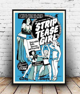 Strip-tease-girl-Vintage-advert-poster-Wall-art-poster-reproduction