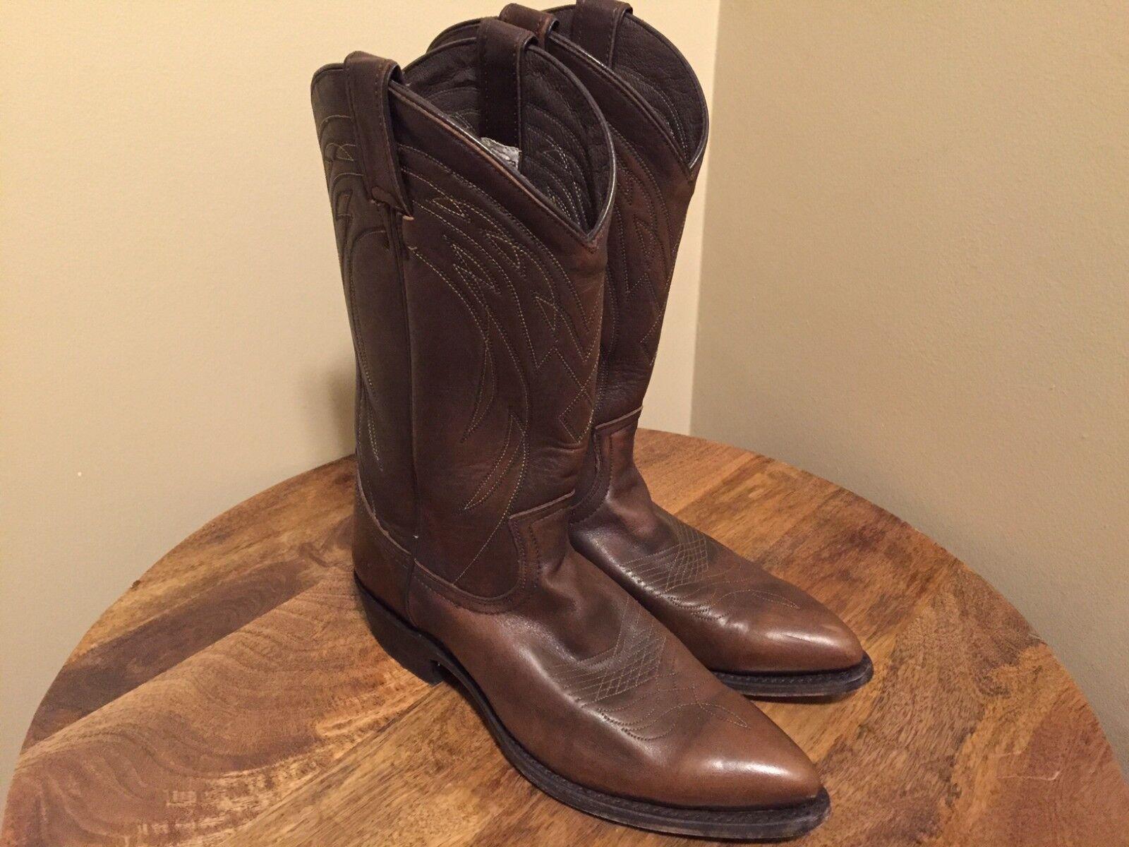 Frye Billy Billy Billy Cowboy Stiefel, Mens 9.5 B (Narrow) in braun Leather 58c511