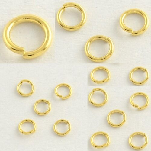 4mm x .7mm 22 Gauge 14kt Gold Plated Zinc Alloy Jump Ring Finding Connector Bead