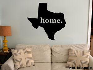 Texas interior wall decal vinyl decor sticker tx love for Lone star home decor