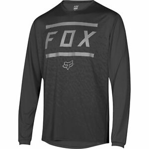 NWT-New-FOX-RACING-Ranger-LS-Jersey-Shirt-L-Large-Black-Mens-m61q