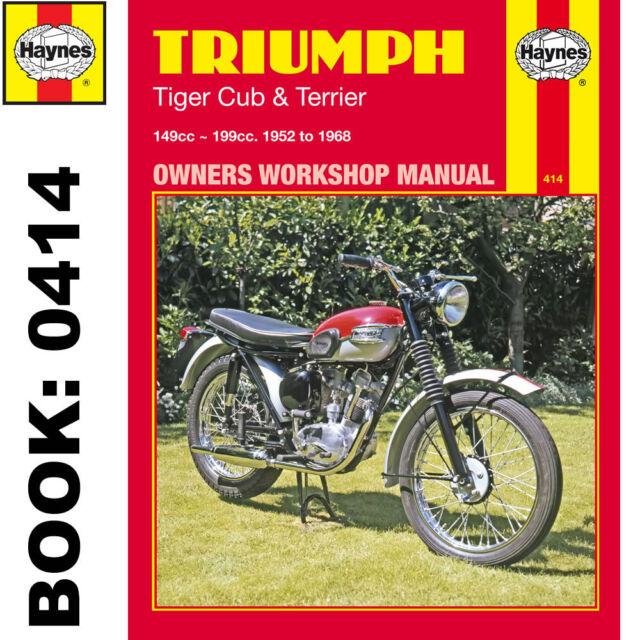haynes triumph tiger cub terrier 1952 1968 motorcycle workshop rh ebay co uk 1968 triumph bonneville service manual 1966 Triumph Bonneville