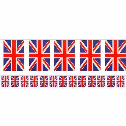 British Union Jack plastic flag bunting 12 feet long