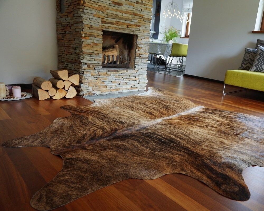 Brindle Cow Hide Rug Brazilian Cow Hide Rug Area Rugs Hair on Hide
