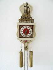 Zaanse Dutch Wall REPAIR Clock Vintage (Junghans Warmink Era)